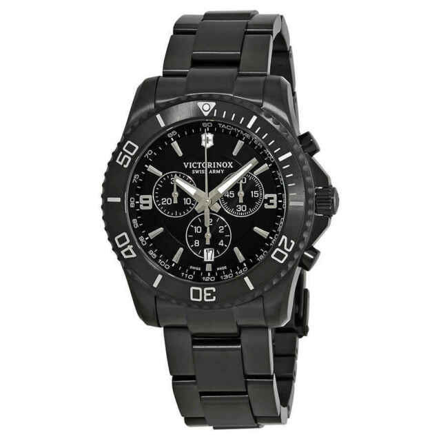 601dc415ded Victorinox Swiss Army 241797 Men s Maverick Black Dial Chrono Watch ...