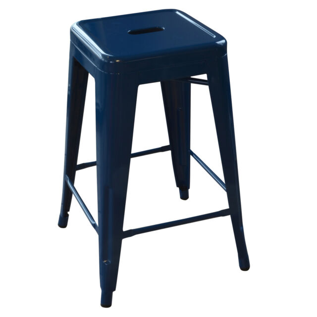 Amerihome Bs24blue 24 Inch Blue Metal Bar Stool 2 Piece Ebay