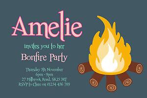 image is loading 10 personalised bonfire night party invitations - Bonfire Party Invitations