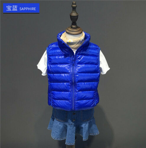 7 Color Children/'s Baby Boy and Girl Duck Down Feather Warm Cotton jackets Vest