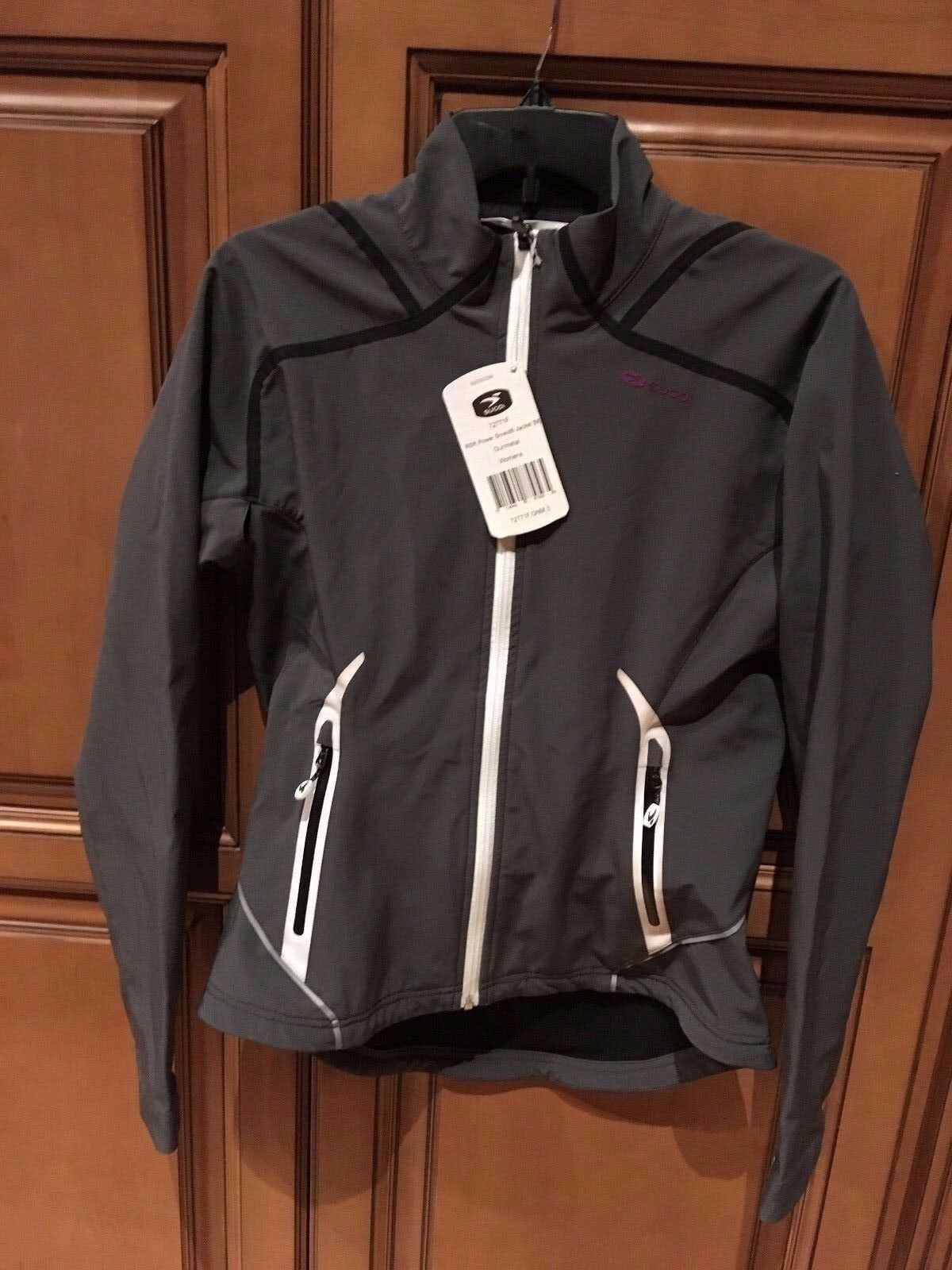 Sugoi RSR power shield shield shield jacket gris cycling medium mujer new 3a1645