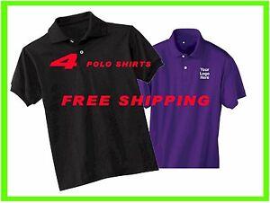 4 custom embroidered free logo polo shirts business for Polo work shirts with company logo