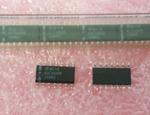3X NSC NMC93C56M3 128X16 EEPROM PDSO-14 Serial IC CMOS