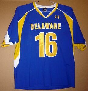 online store b2742 669b1 Details about DELAWARE BLUE HENS Blue #16 COLLEGE LACROSSE Under Armour  Size XL JERSEY