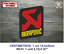 Sticker-Vinilo-Decal-Vinyl-Aufkleber-Adesivi-Autocollant-Akrapovic-Exhaust-LOGO2 miniatura 7