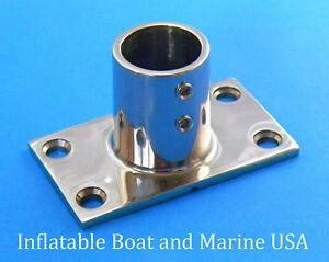 """Marine Boat Hand Rail Fitting 90 Grad Rechteck Rungen Basis für 1 /""""Rohr"""