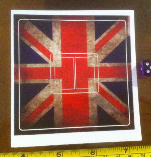 British Flag Britain Motif Fun Home Decor Double Light Switch Sticker Cover
