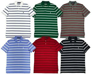 Image is loading Ralph-Lauren-Polo-Mens-Soft-Touch-Striped-Pony-