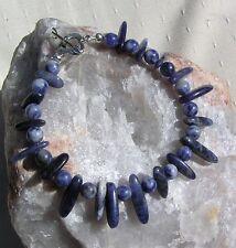 "Blue Sodalite Crystal Gemstone Bracelet ""Sora Skye"""