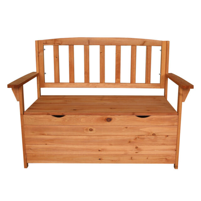 Amazing Wooden Storage Garden Bench Outdoor Indoor Chest Armchair Chair Box Backyard Inzonedesignstudio Interior Chair Design Inzonedesignstudiocom