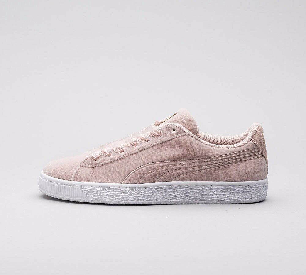 Descuento por tiempo limitado Womens Puma Suede Classic Velour Pink/White Trainers