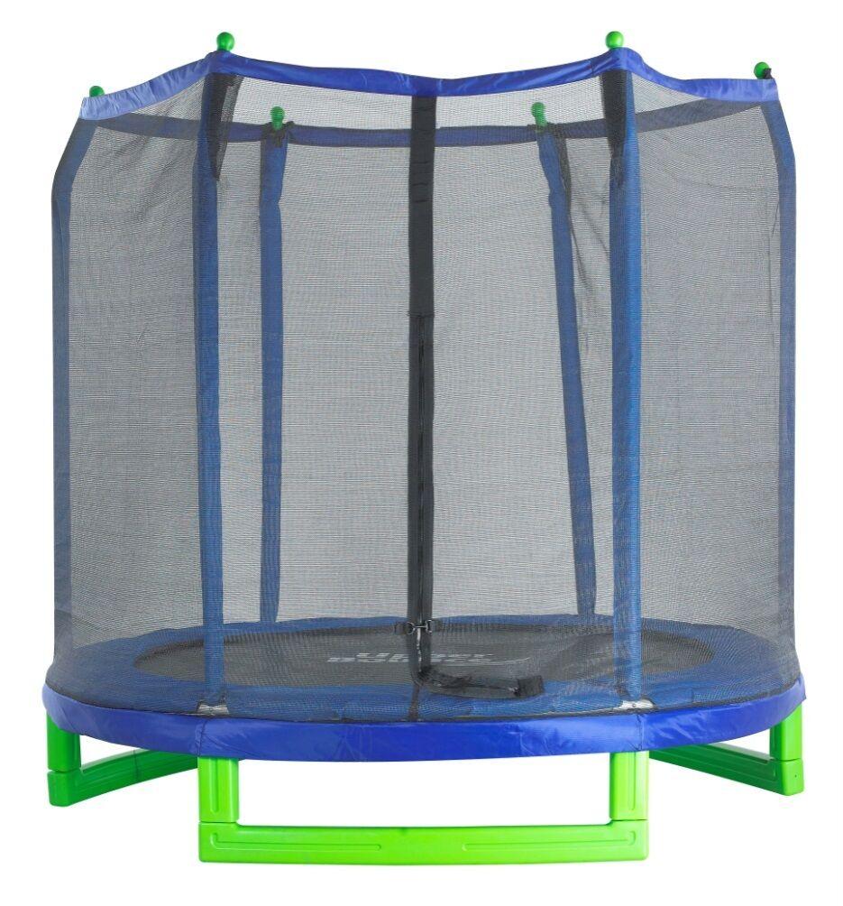 Upper Bounce 7 Foot Indoor/Outdoor Kids Classic Trampoline and Enclosure Set