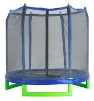 Upper Bounce 7 Foot Indoor/outdoor Kids Classic Trampoline And Enclosure Set