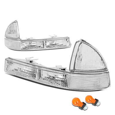 Fit 1997-2004 Chevy Corvette Pair Front Bumper Corner Light Turn Signal Lamps