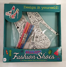 Fashion Shoes Wall Art DIY Kids Craft Design it Yourself Teen Girls Room Decor