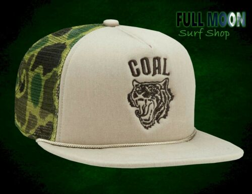 New Coal Khan Camo Wolf Beast Mens Trucker Snapback Cap Hat