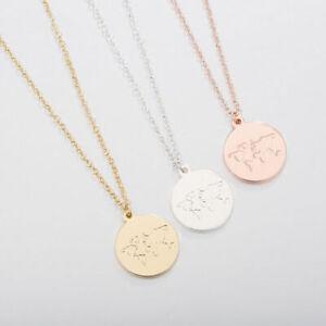 Halsketten-Halskette-Globus-Welt-Weltkarte-Symbol-Rosegold-Gold-Silber-Muenze