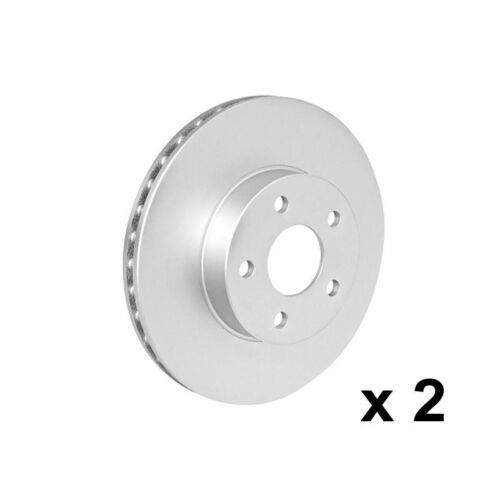 08//07-08//10 Front Pair of Brake Discs for BMW 520d 2.0