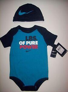 d879ebd75 Nike Bodysuit Cap 2pc Set Sz 9-12 Mos Blue Lagoon Swoosh _Lbs. of ...