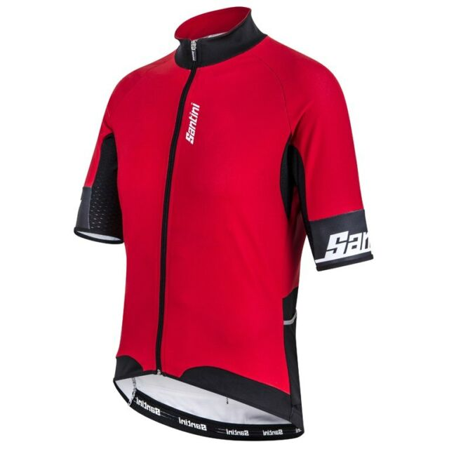 Zest Short Sleeve Cycling Jersey in Red Made in Italy by Santini