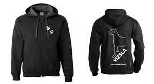 Women's Clothing Exclusive Dogeria Design Vizsla Full Zipped Dog Breed Hoodie