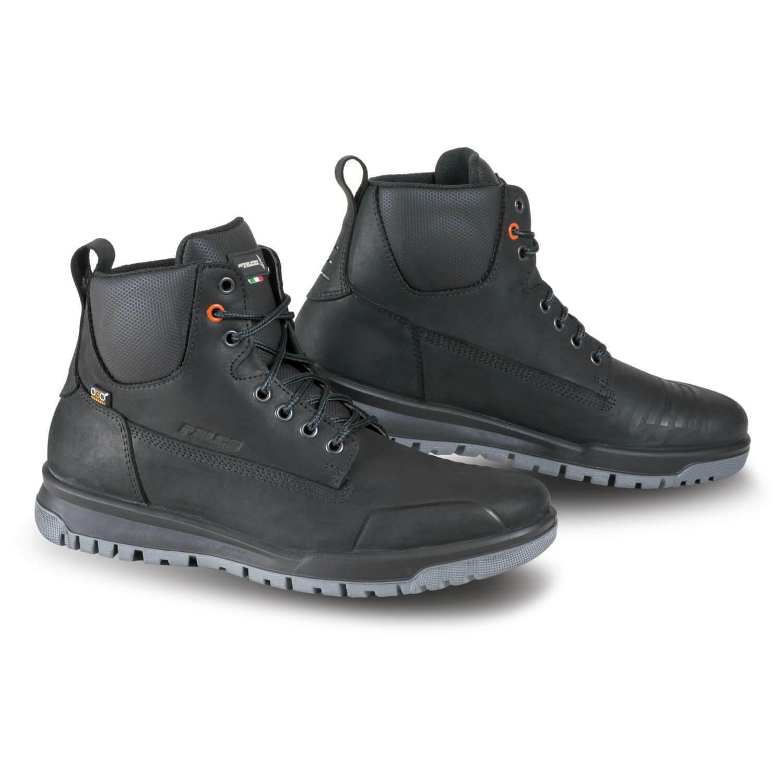 Falco Patrol Men's Urban Motorcycle Boots short Shaft Waterproof - Black