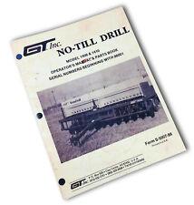 Gt Gilmore Tatge No Till Drill 1406 1410 Operators Manual Owners Book Sn 86001