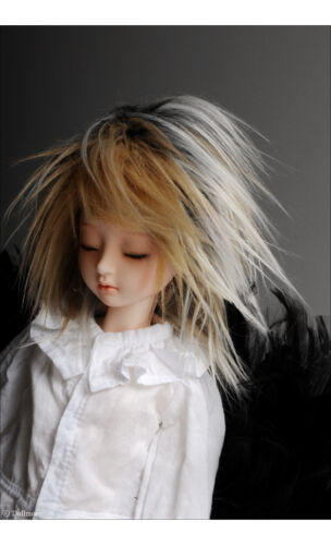 """Dollmore 1//4 BJD OOAK MSD Wig /""""  Mohair Free Style Wig 7-8 Mix.Blonde"""