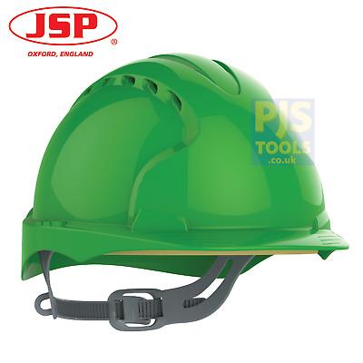 JSP EVO2 white vented mid peak comfort hard hat safety helmet slip ratchet