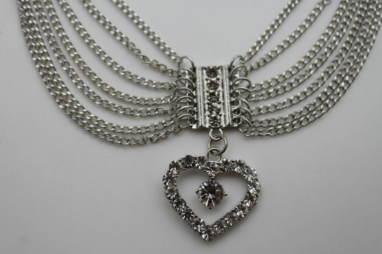 Women Silver Metal Chain Boot Bracelet Friendship Shoe Love Charm Bling Heart