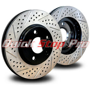 Front /& Rear Drill Slot Brake Rotors For Lexus GS350 IS350 AWD F Sport Base