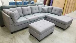 BRAND NEW DOLTON SECTIONAL SOFA WITH OTTOMAN(OPTION TO PAY ON DELIVERY)FINANCING AVAILABLE AT 0% Barrie Ontario Preview
