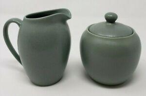 Noritake-Colorwave-8485-Creamer-amp-Sugar-w-Lid-Set-Green-Stoneware-Coffee-Tea