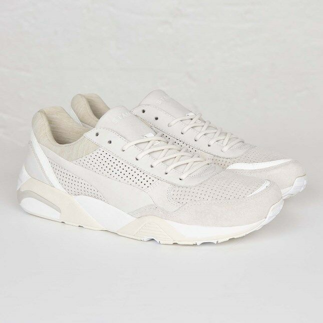 Puma R698 X Stamp'd bianca Suede Leather Leather Leather 358736-02 Uomo Dimensiones NEW 100% Authentic dd1d1d