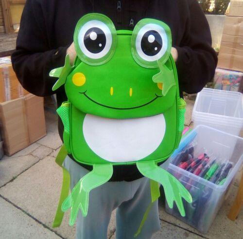 10kg Max Hold Frog 2 Side Pockets Animal Design Backpack 2 Compartments