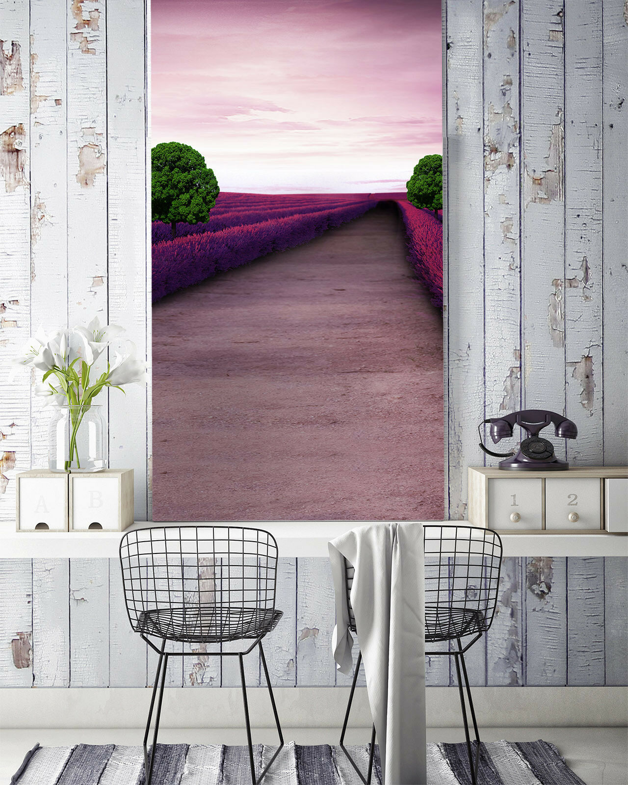 3D Flower Road 4159 Wallpaper Murals Wall Print Wall Mural AJ WALLPAPER UK Carly