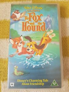 DISNEY-CLASSICS-The-Fox-and-the-Hound-VHS-Video-Tape-VGC-PAL-RARE-OOP