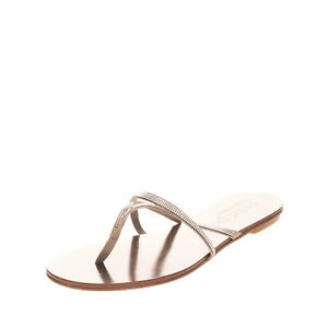 RRP €265 PEDRO GARCIA Satin Thong Sandals Size 42 UK 9 US 12 Swarovski Strappy