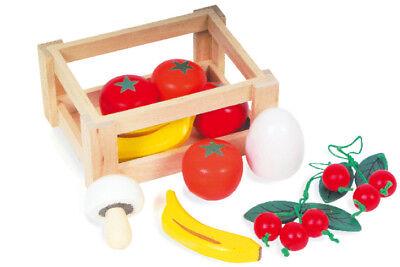 OBSTKISTE mit Obst Gemüse gefüllt Holz Holzobst °NEU°