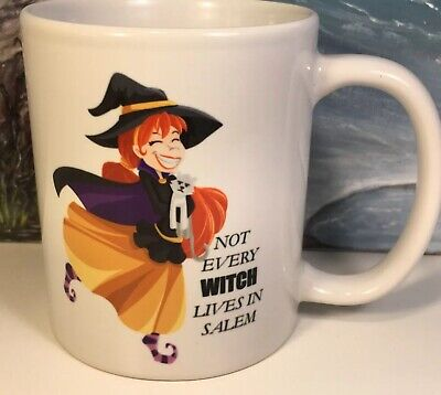 Witch Coffee Mug Halloween New Not Every Witch Lives In Salem Ebay