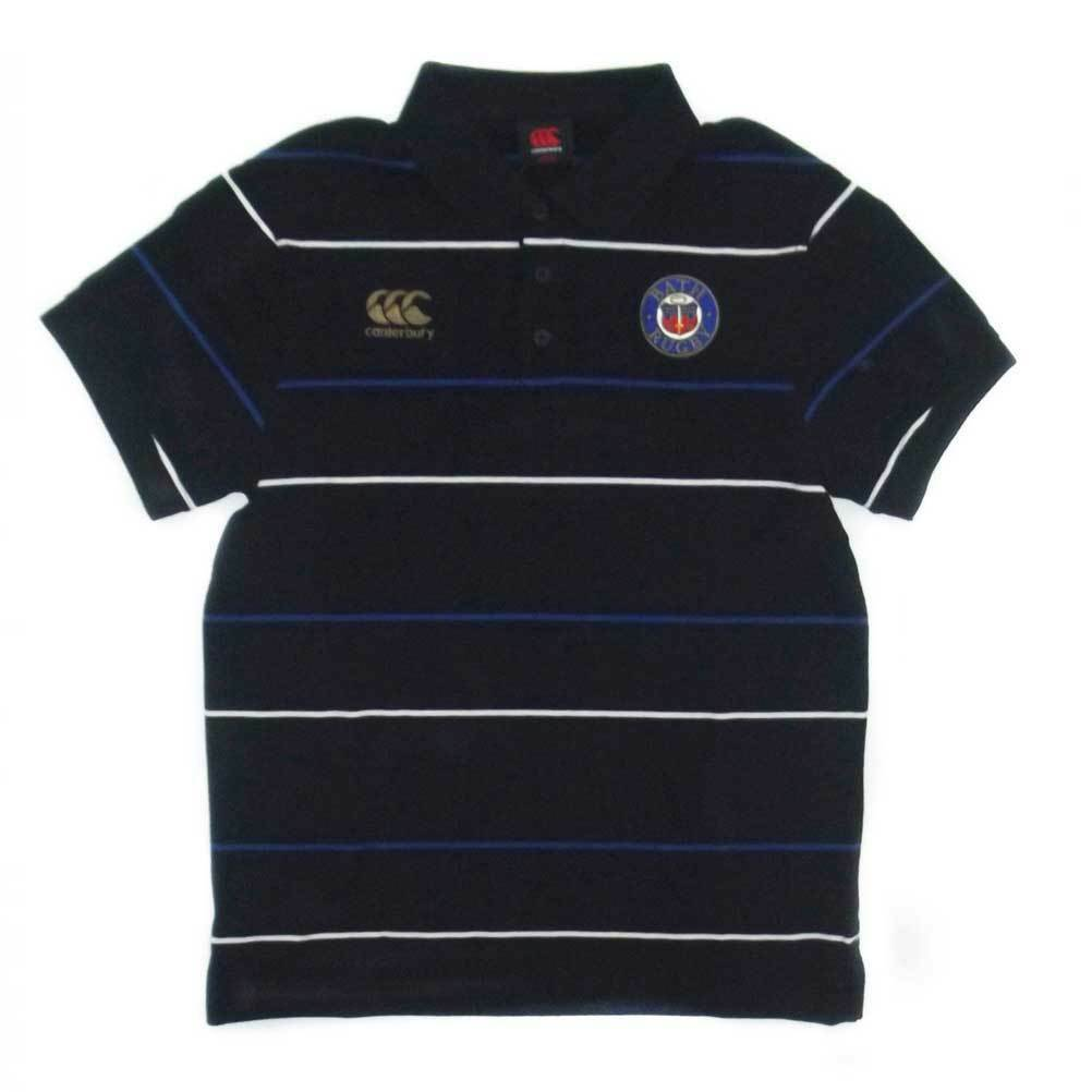 CCC Bath Rugby Cotton Striped Media Polo Shirt  - Small