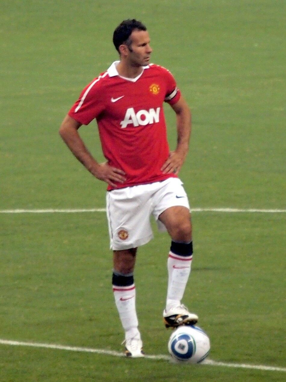 EXCELLENT      GIGGS     2010-11 Manchester United Home Shirt Jersey Trikot M ef188c