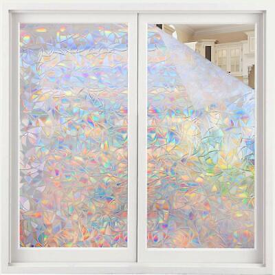 Rainbow Glass Window Film 3D Window Film Decorative Rainbow Effect Under Sunshin