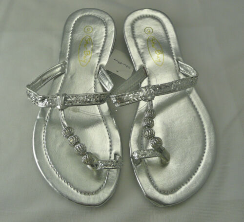 Womens Sandal//Flip Flop Silver by Star Bay Free Shipping Limited Supply 2528