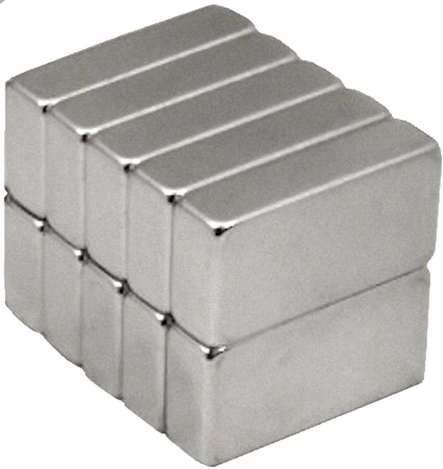 50 Pack 1//4 x 1//4 x 1//8 Inch Neodymium Rare Earth Block Magnets N48