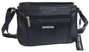 Tasche-Damentasche-Handtasche-Schultertasche-in-Lederoptik-Farbwahl-NEU