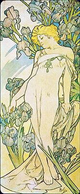 """1897-20/""""x48/"""" CANVAS ART Alfons Alphonse Mucha- Iris"""