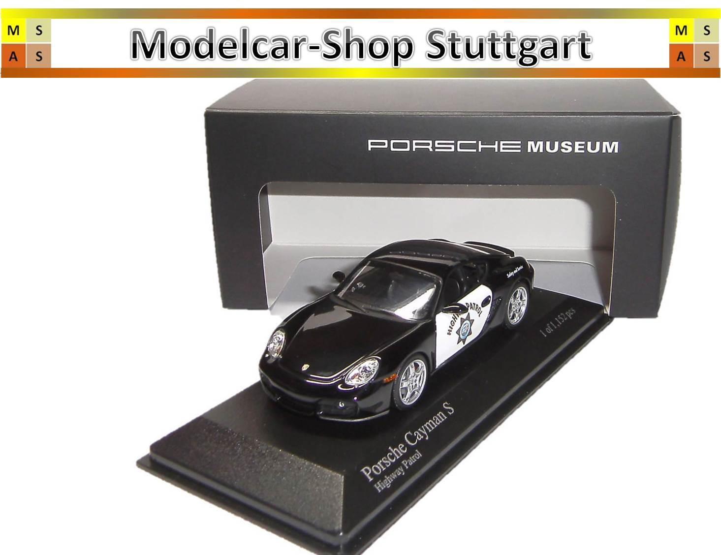 PORSCHE Highway Patrol Cayman S LTD. Museo Edition Minichamps 1 43 map02031516