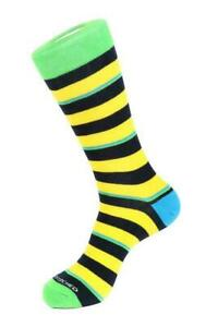 UNSIMPLY-STITCHED-Men-039-s-Safety-Striped-Combed-Cotton-Socks-Men-039-s-8-12-NWT-12