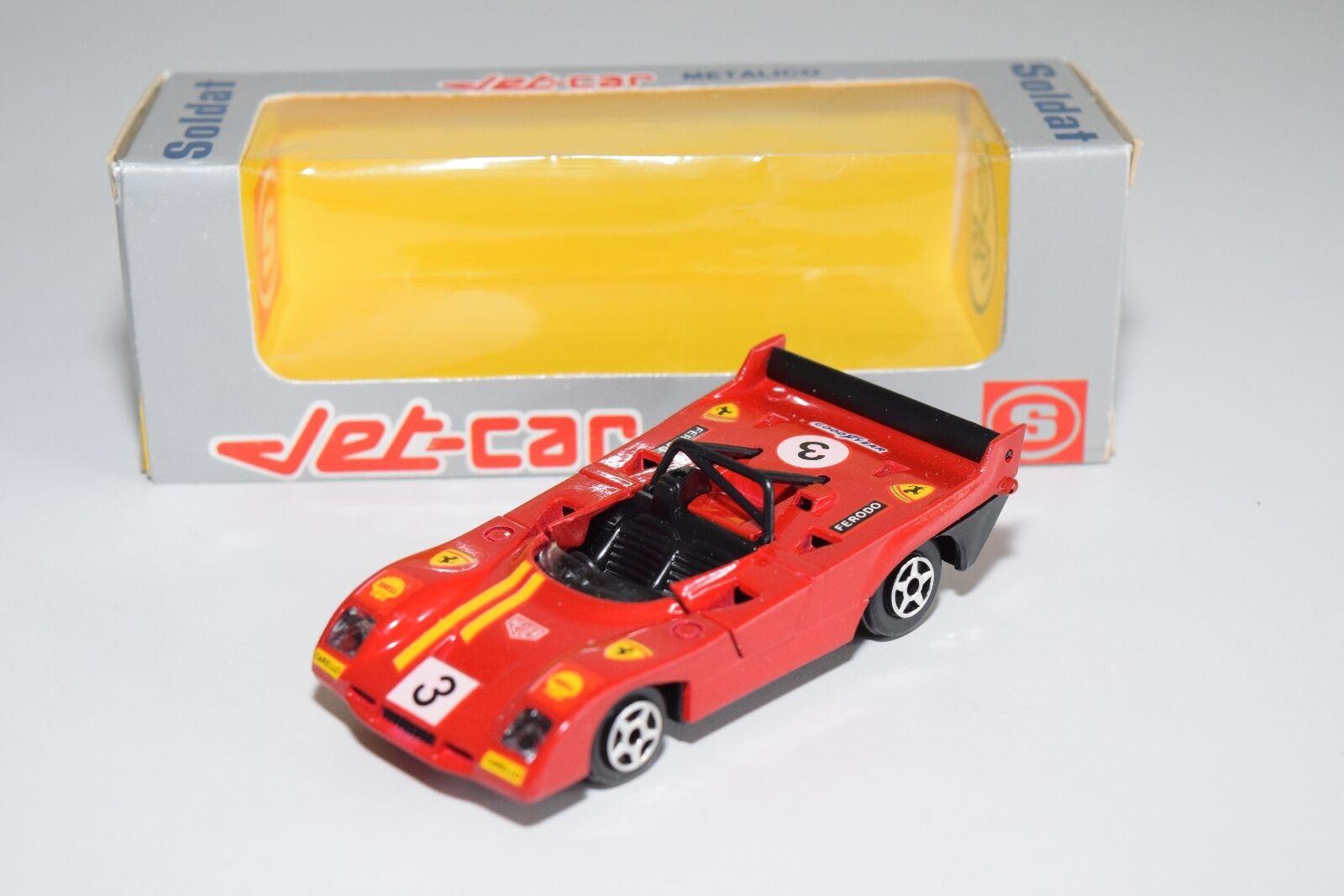 + NOREV JET-CAR SOLDAT SPANISH BOX 835 FERRARI 008   312 P MINT BOXED RARE